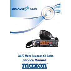 Maxon CM70 CB Radio Service Manual